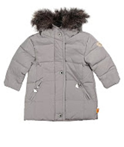 Steiff Down Coat With Hood, Gray, Girl, Baby (80) front-1048037