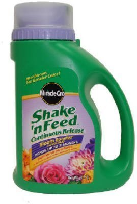 Miracle-Gro 100885 Shake 'n Feed Continuous Release Bloom Booster Plant Food, 4.5-Pound (Slow Release Plant Fertilizer) (Discontinued by Manufacturer)