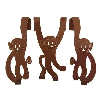 Wanted Doorhanger Monkeys Set of 3 Height 22 cm Brown
