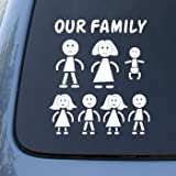 STICK FAMILY - Figures - Vinyl Car Decal Sticker #1648 | Vinyl Color: White