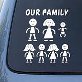 STICK FAMILY - Figures - Vinyl Car Decal Sticker #1648 | Vinyl Color: White