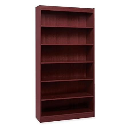 Lorell 7-Shelf Panel Bookcase, 36 by 12 by 84-Inch, Mahogany