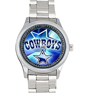 Dude Custom Dallas Cowboys BLUE Men's Stainless Steel Watch Sliver Metal