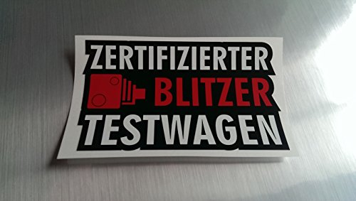 Blitzer Testwagen Shocker Hand Auto Aufkleber JDM Tuning OEM DUB Decal Stickerbomb Bombing fun w