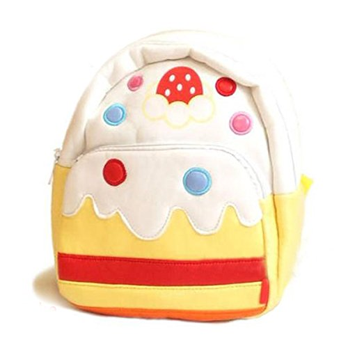 Children Pu Leather Animal Cartoon Backpack Toddler Kid'S School Bag 15 Styles - White Cake front-1004680