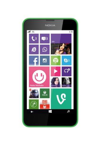 Nokia Lumia 630 Smartphone, 8 GB, Verde [Italia]