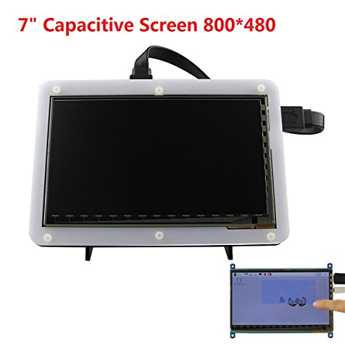 7 inch 800 x 480 TFT LCD Display HDMI Capacitive Touch Screen - Import It  All