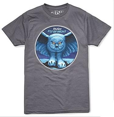 Rush 'Fly By Night' grey t-shirt (X-Large)