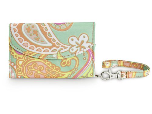 All For Color Paisley Breeze Smart Phone ID Wristlet