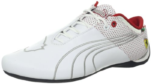 PUMA Men's Future Cat M1 Big Ferrari L Fashion Sneaker,White,9 D US