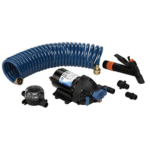 Jabsco 32900-0092 ParMax 4.0 GPM Washdown Pump - 12VDC 60 PSI with 25 ft. hose coil