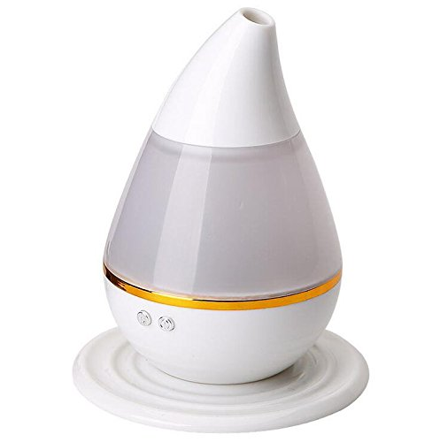 Generic Mini Car Home Dual use USB Humidifier Water-drop Air Purifier Aroma Diffuser Mist Home Room Office Fresh Air (Pink)