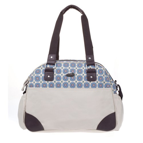Bellotte Designer Bowler Diaper Bag in Blue Diaper Bag