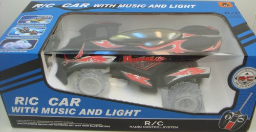 Remote Control CHAMPIONS RACING CAR WITH MUSIC AND LIGHT - Rapiding Power-Black