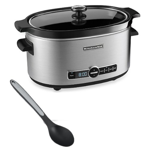 Nylon Spoon with Kitchenaid® 6-quart Glass Lid with Slow Cooker