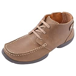 Woodland Mens Beige Leather Lace Up Shoes -7 Uk