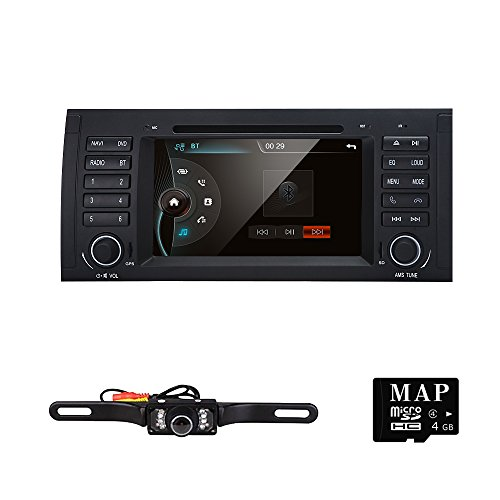 7 Inch Windows Ce 6.0 Dash Single Din DVD Player Stereo Touch Screen GPS Navigation with Back Up Camera for BMW 5 Series E39 E53 X5 M5 Dual Canbus TV Tuner iPhone6s/6/5S/5C/5 (Bmw X5 Tv compare prices)