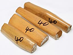 1Pc Genuine India Raw Sandalwood Stick Billet Fragrance White Sandal Gift Select from Weight (40 gm)