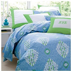 Grand Ikat Queen Duvet/Comforter Cover-Royal Blue front-173067