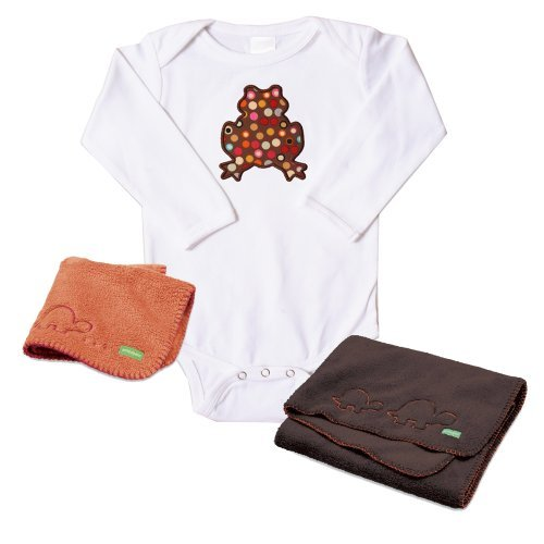Ambajam Baby Bundle Gift Set: 3-6 Month Onesie, Cuddle-up Blanket, Mini Cuddle-up Blanket