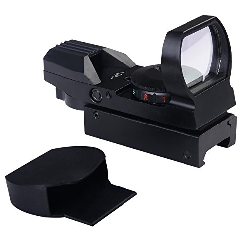 Tactical Holographic Reflex Red Green Dot Sight 4 Type Reticle for 20mm Rails (Dark Earth Quad Rail compare prices)