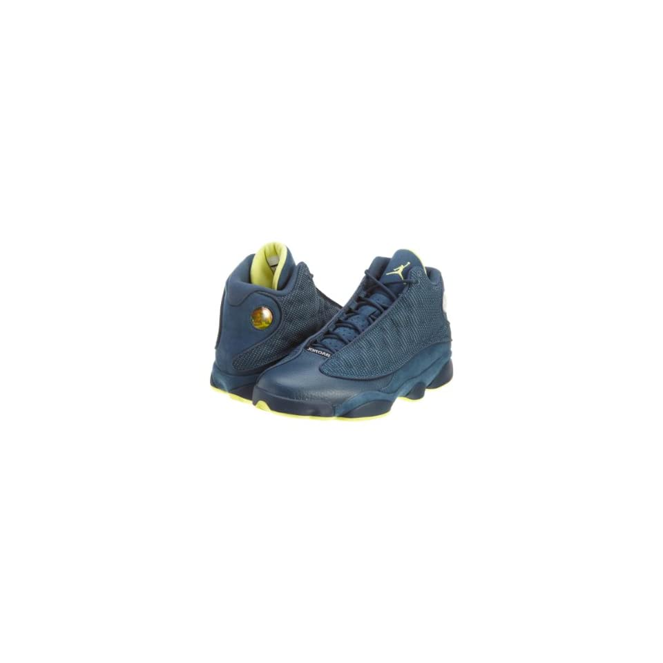 4f0ca45050032f Mens Nike Air Jordan Retro 13 Basketball Shoes Squadron Blue   Electric  Yellow   Black 414571 405 Size 12 Shoes