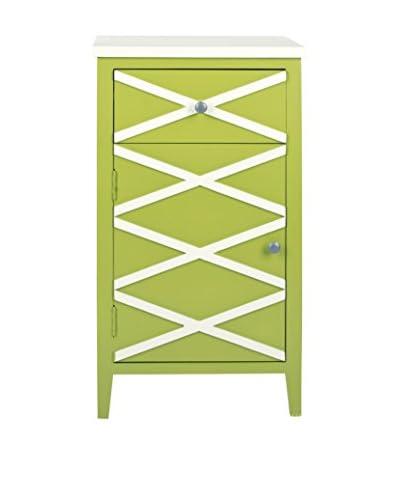 Safavieh Brandy Small Cabinet, Lime Green/ White