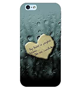 PrintDhaba HEART DROPS D-6383 Back Case Cover for APPLE IPHONE 6S PLUS (Multi-Coloured)