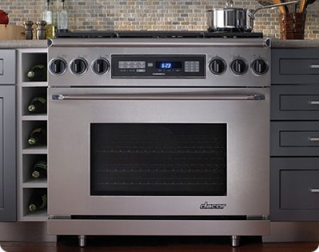 Dacor Epicure 36 In. Stainless Steel Freestanding Dual Fuel Range - ER36DSCHNG