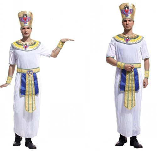Ponce Halloween Cosplay Stage Costumes Adult Egyptian Pharaoh King Clothes