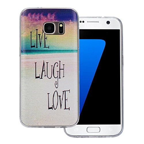 Ouneed® Case Cover Multi Color TPU Per Samsung Galaxy S7 (Lettera)