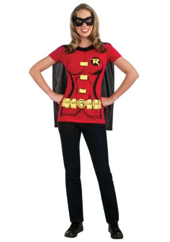 Rubies Womens Robin Sexy Shirt Instant Costume Halloween Themed Party Dress