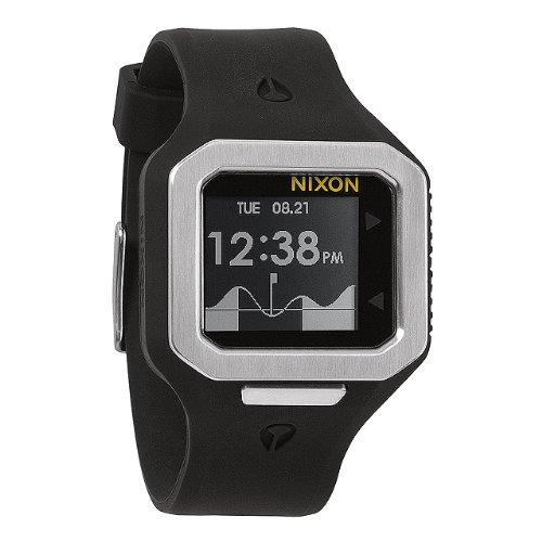 【ニクソン】 NIXON 腕時計 SUPERTIDE: BLACK/SILVER NA316180-00 【正規輸入品】 A316180 A316-180 スーパータイド: ブラック/シルバー