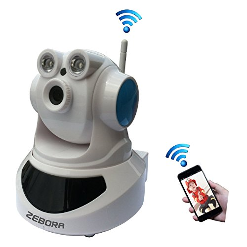 ZEBORA 720P HD Baby Monitor, Remote Wireless Surveillance Internet Monitoring WiFi IP Indoor Video Security Camera, Pet Camera with Pan and Tilt, Two Way Audio and Night Vision