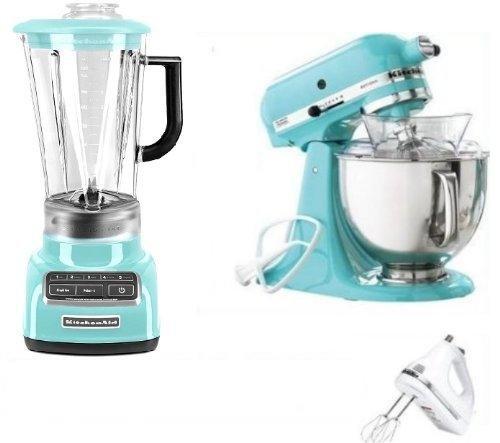 KitchenAid Artisan Tilt Stand Mixer, Blender and hand mixer Blue Collection 5 Qt. KSM150PSAQ Aqua Sky (Aqua Hand Blender compare prices)