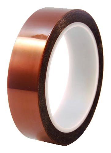 "Cs Hyde Kapton With Silicone Adhesive, 2Mm Thick, Amber, 0.25"" Width"" X 36 Yard Roll"