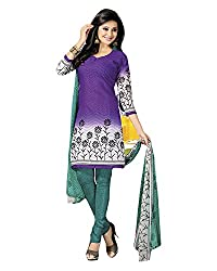 Clothing Deal Women's Crepe Georgette Unstitched Dress Material (Purple)