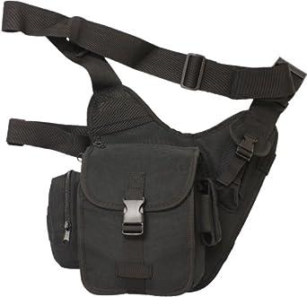Nitehawk Army/Police Tactical Utility Combat Shoulder Pack Bag Black