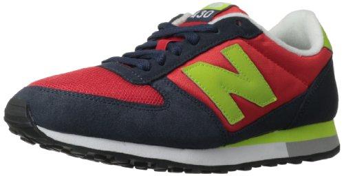 New Balance, NBU430NRL, Sneaker, Unisex - Adulto, Navy/Red, 42.5