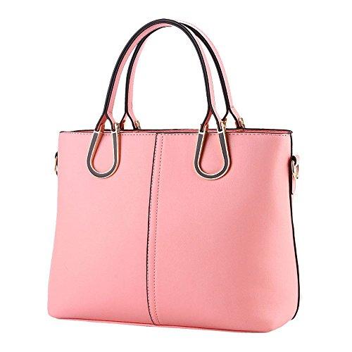 koson-man-femme-vintage-sacs-bandouliere-sac-a-poignee-superieure-sac-a-main-rose-rose-kmukhb263