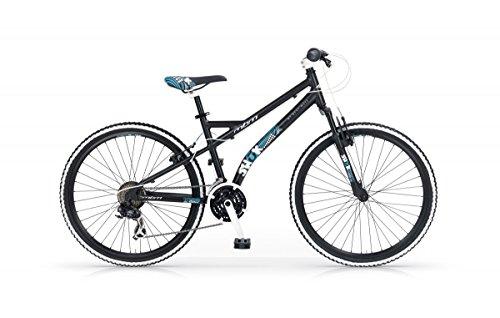 26' Zoll MBM Shok Mountainbike Hardtail MTB Fahrrad Mountain Bike, Farben:schwarz-blau