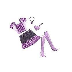 BARBIE Fashion Fever Outfits Purple Polka Dots Dress Toy N4870