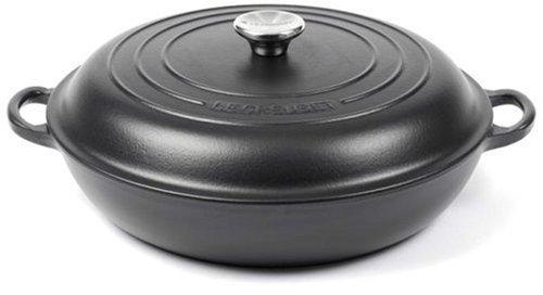Le Creuset Cast Iron Shallow Casserole, Satin Black, 30 cm
