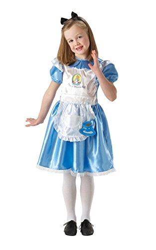 Deluxe Alice nel paese delle meraviglie - bambini Costume - Medium - 116 centimetri