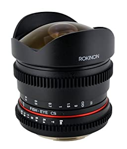 Rokinon RK8MV-C 8mm T3.8 Cine Fisheye Lens for Canon Video DSLR with Declicked Aperture