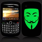 BlackBerry Curve 8520 / 9300 Glow in The Dark 'V for Vendetta' Inspired (Designed by Creative Eleven) Silicone Skin Case / Cover / Shellby Activ8 Distribtuion Ltd