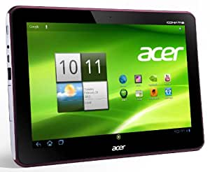 Acer Iconia A200 25,7 cm (10,1 Zoll) Tablet-PC (NVIDIA Tegra2 Dual-Core, 1GHz, 1GB RAM, 32GB Flashspeicher, Android 4.0) metallic rot