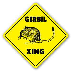 Gerbil Crossing Sticker<br>8x8 Inches