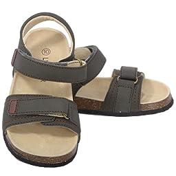 L\'Amour Toddler Girls 10 Khaki Soft Footbed Strap Sandals