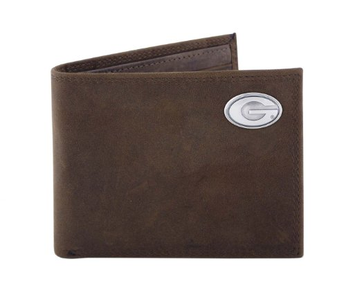 NCAA Georgia Bulldogs Light Brown Crazyhorse Leather Bifold Concho Wallet, One Size (Georgia Bulldog Bifold Wallet compare prices)